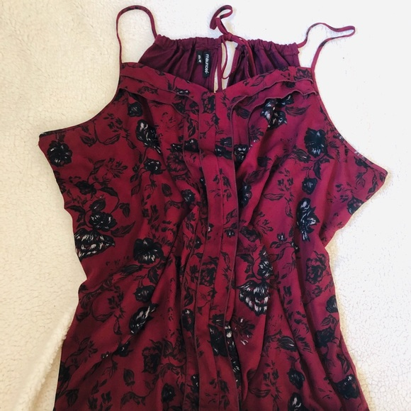 Maurices Tops - EUC Maurices dark red Chiffon front tank